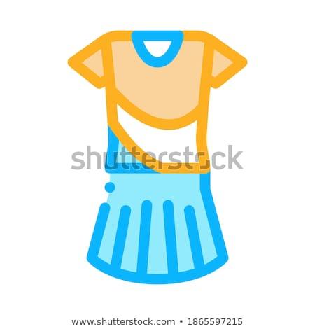 Woman Tennis Suit Icon Vector Outline Illustration Stock photo © pikepicture