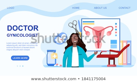 Endometriosis landing page concept Stock photo © RAStudio