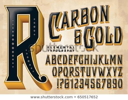 Black engraved font Letter I 3D Stock photo © djmilic