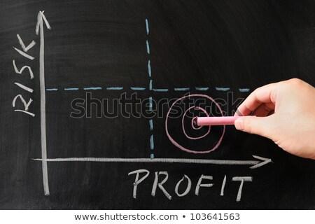 Ryzyko zysk matrycy wykres biznesowych strony rysunek Zdjęcia stock © ivelin