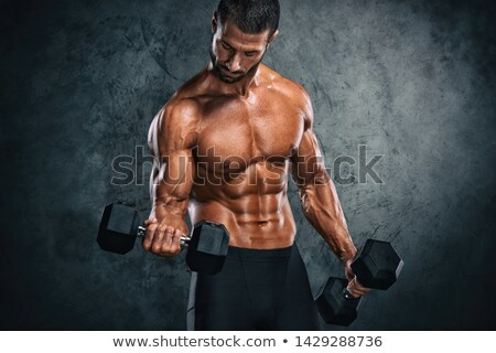 тело · строителя · мышечный · мужчины · туловища · изолированный - Сток-фото © stryjek