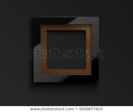 Vetor praça luxo preto quadro Foto stock © Iaroslava