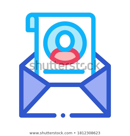 Envelope with Voter Information Sheet Icon Vector Outline Illustration Stock photo © pikepicture