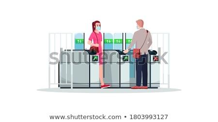 Verlassen Tür Sicherheit U-Bahn Karte U-Bahn Stock foto © magraphics