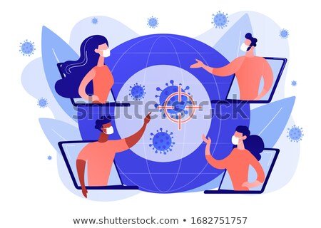 Covid-2019 global response concept illustration. Stock photo © RAStudio