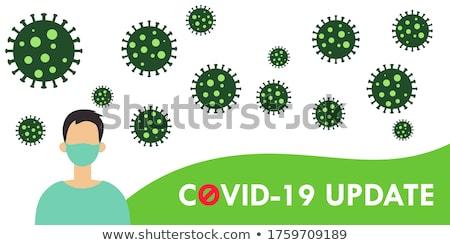 covid-19 novel coronavirus green banner concept vector Stock photo © SArts
