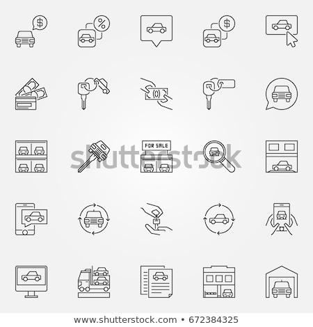 Araba değiştirme ikon vektör örnek Stok fotoğraf © pikepicture