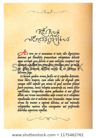 Página antigo manuscrito não sentido velho Foto stock © evgeny89