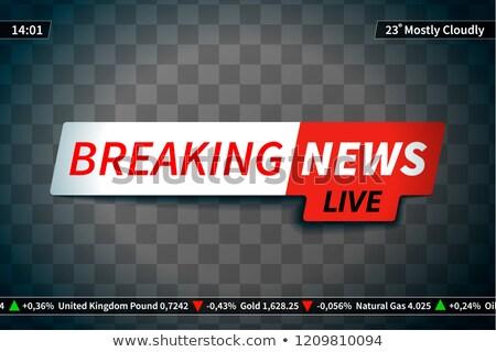 Breaking news scherm transparant licht ontwerp achtergrond Stockfoto © evgeny89