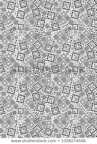 Abstract black and white pattern background. Seamless geometric circle halftone. Stylish modern text Stock photo © samolevsky