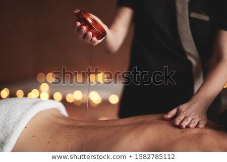терапевт женщины назад Spa Сток-фото © boggy