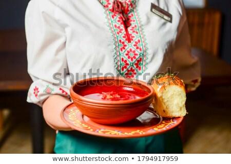 Traditional Ukrainian borsch Stock photo © tycoon