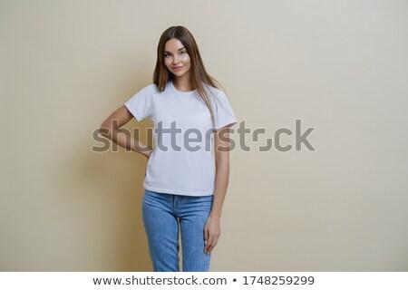 Aantrekkelijk jonge vrouwelijke hand taille toevallig Stockfoto © vkstudio