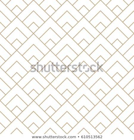 Art deco mértani végtelenített vektor minta arany Stock fotó © yopixart
