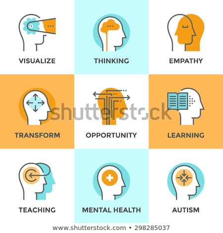 Psychotherapy Help Collection Icons Set Vector Stock photo © pikepicture