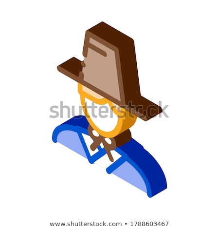 Korean Human isometric icon vector illustration Stock photo © pikepicture