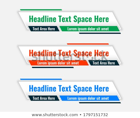lower third wide banners with text space Stock photo © SArts