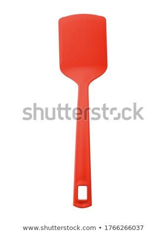 Rouge spatule maison cuisine Cook Photo stock © mybaitshop