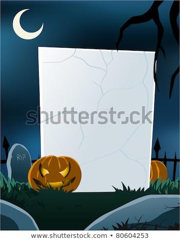 Halloween vertical conselho vetor formato Foto stock © DamonAce
