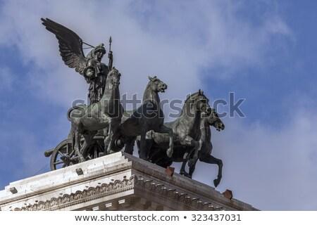 üst · Brandenburg · Kapısı · Berlin · Almanya · Bina · at - stok fotoğraf © konart