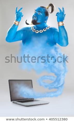 Genie out of the laptop Stock photo © Oksvik
