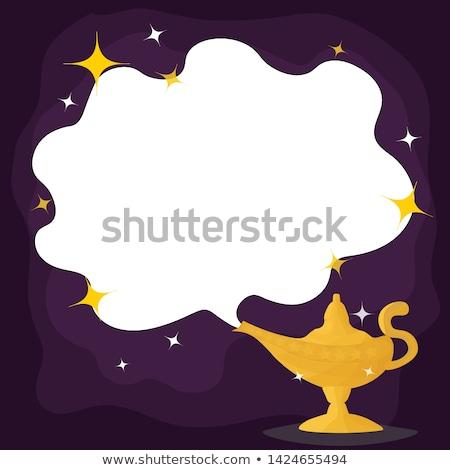 Gênio lâmpada fumar símbolo rápido sucesso Foto stock © premiere