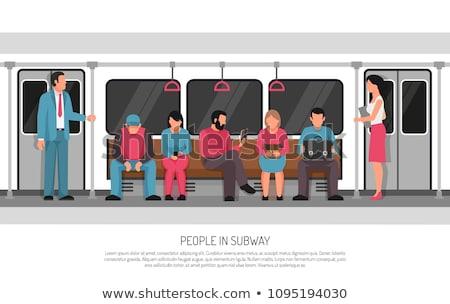 passeggeri · metropolitana · abstract · città · gruppo · urbana - foto d'archivio © paha_l