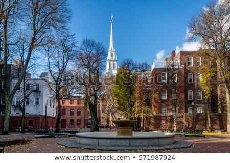 старые север Церкви Бостон исторический конец Сток-фото © elenaphoto