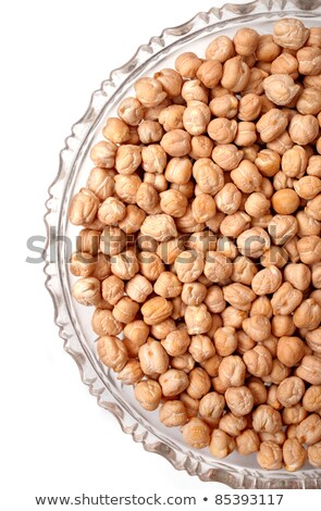 chick peas   in a glass plate isolated on white background Stock photo © illustrart