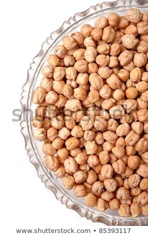 civciv · bezelye · hizmet · ahşap · çanak · gıda - stok fotoğraf © illustrart