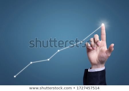 hand up graph Stock photo © vichie81
