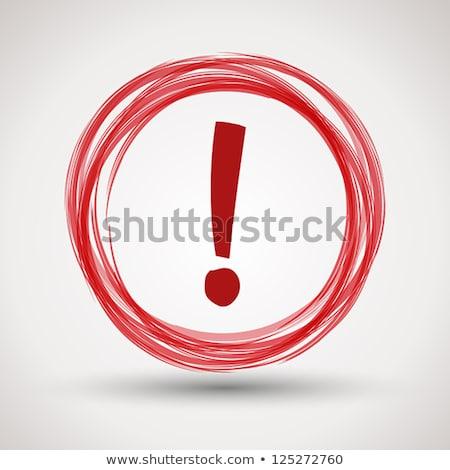 Stock fotó: 3D · piros · gomb · felkiáltójel · fehér · internet