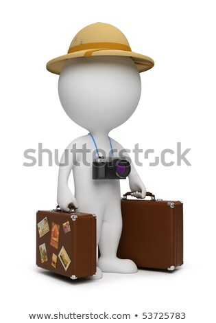 3d small people   tourist stock photo © anatolym