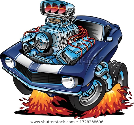 Vector cartoon muscle car Stock photo © mechanik