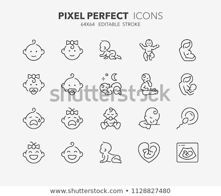 collectie · moederschap · iconen · communie · vector · hand - stockfoto © marish