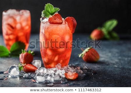 клубника коктейль изолированный белый продовольствие Сток-фото © karandaev