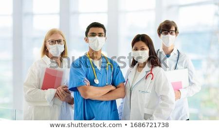Orvos nővér lány gyermek kórház gyógyszer Stock fotó © mintymilk