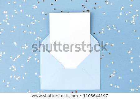 ロマンチックな 赤ちゃん 青 クリスマス 装飾 星 ストックフォト © xaniapops