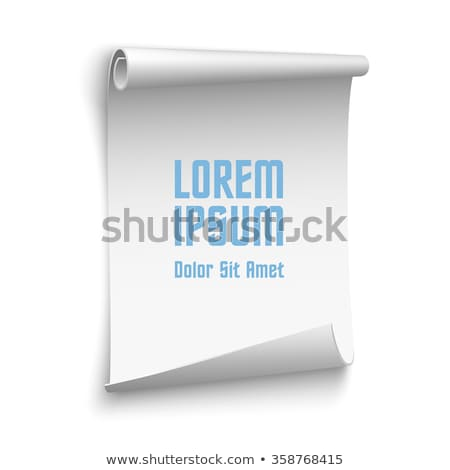 blank scrolls of white paper stock photo © LoopAll