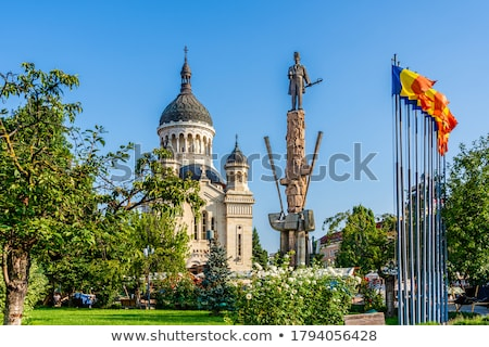 Ortodox katedrális város Romania templom kilátás Stock fotó © lirch