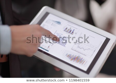 tab and graph Stock photo © pkdinkar