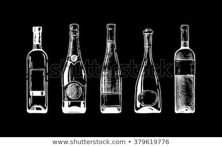 élégante · artistique · champagne · verre · Creative · floral - photo stock © aispl