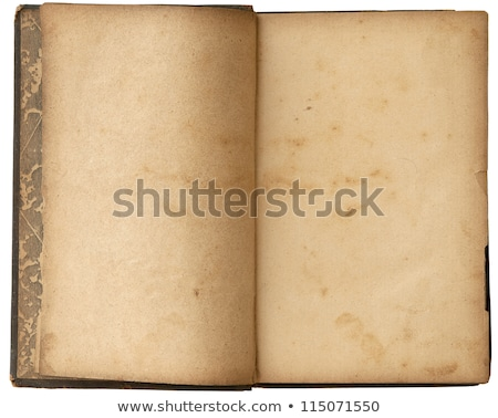 an old book with blank pages ready for text stock photo © latent