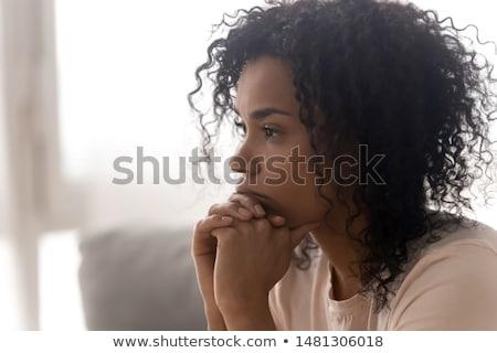 подростку · мысли · мальчика · сидят · лице · волос - Сток-фото © ilona75