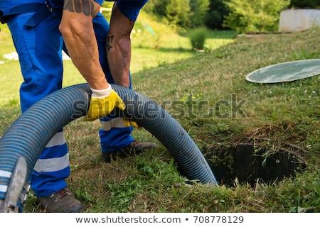 tank · munka · víz · építkezés · eső · elektromosság - stock fotó © xedos45