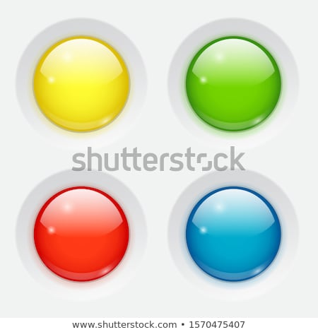 Teia botões vidro verde arco-íris Foto stock © hugolacasse