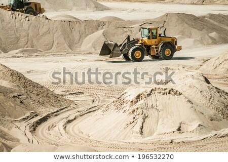 экскаватор трек холме Top грязи Сток-фото © Kacpura