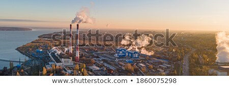 dirty smoke and pollution produced by chemical factory stock photo © tarczas