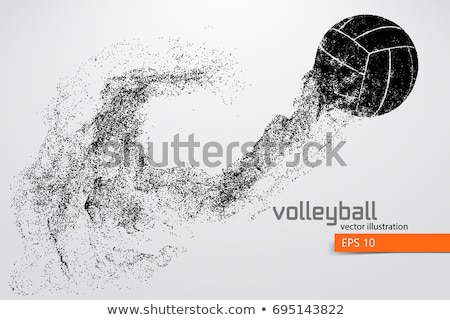 Stock photo: abstract illustration of volleyball players
