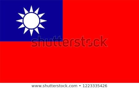 Taiwan bandeira ícone isolado branco internet Foto stock © zeffss